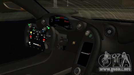 McLaren P1 GTR 2015 para la visión correcta GTA San Andreas