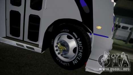 Mercedes-Benz Ayco Zafiro Influyente para GTA San Andreas vista hacia atrás