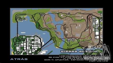 HD Radar Map para GTA San Andreas sexta pantalla