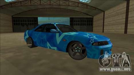 Nissan Skyline R33 Drift Blue Star para visión interna GTA San Andreas