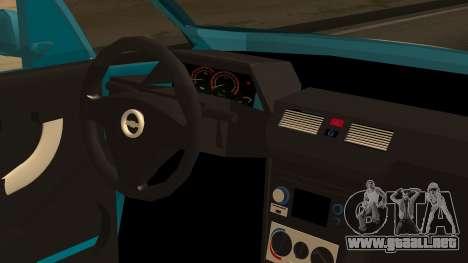 Chevrolet Meriva de Seguridad Vial para GTA San Andreas vista hacia atrás
