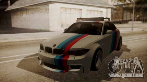 BMW 1M E82 with Sunroof para visión interna GTA San Andreas