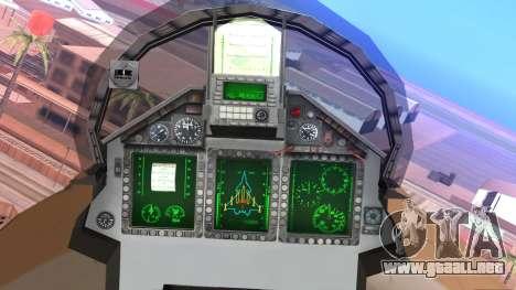 Mikoyan MIG 1.44 Flatpack Venezuelan Air Force para la visión correcta GTA San Andreas