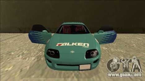 Toyota Supra Falken Drift para la vista superior GTA San Andreas