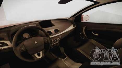 Renault Megane 3 para la visión correcta GTA San Andreas