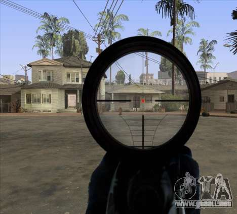 Sniper Scope v2 para GTA San Andreas tercera pantalla