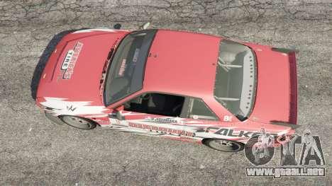 GTA 5 Nissan Silvia S13 v1.2 [with livery] vista trasera