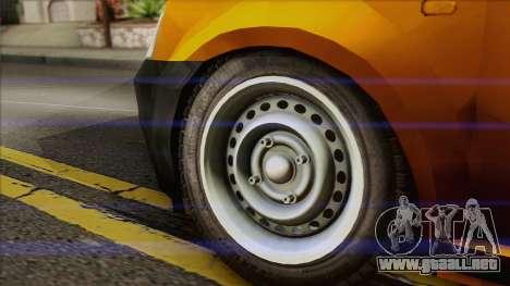 Dacia Logan Pickup 6x6 para GTA San Andreas vista posterior izquierda