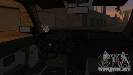 BMW M3 E30 Coupe Drift para GTA San Andreas vista posterior izquierda