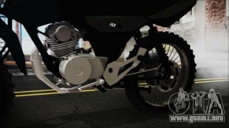 Zanella RX150 Cross para la visión correcta GTA San Andreas