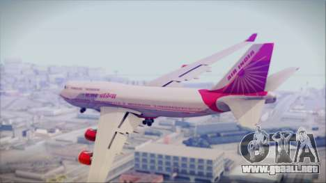 Boeing 747-437 Air India Tanjore Old Skin para GTA San Andreas left