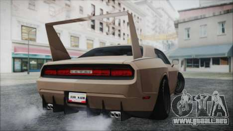 Dodge Challenger Daytona para GTA San Andreas vista posterior izquierda