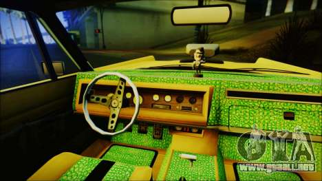 GTA 5 Vapid Chino Hydraulic Version IVF para GTA San Andreas vista posterior izquierda