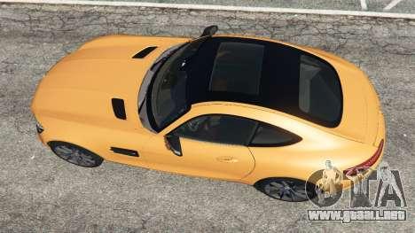 GTA 5 Mercedes-Benz AMG GT 2016 v2.0 vista trasera