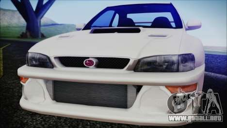 Subaru Impreza 22B STi para GTA San Andreas vista posterior izquierda