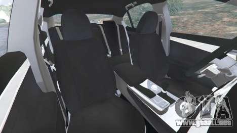 GTA 5 Lexus GS 350 F-Sport 2013 vista lateral derecha