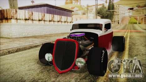 Ford 32 para GTA San Andreas vista posterior izquierda