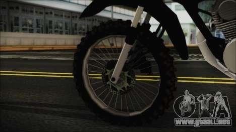 Zanella RX150 Cross para GTA San Andreas vista posterior izquierda