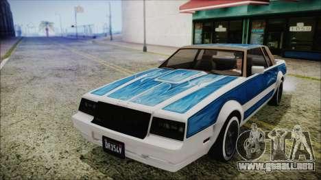 GTA 5 Willard Faction Custom Bobble Version IVF para GTA San Andreas vista hacia atrás