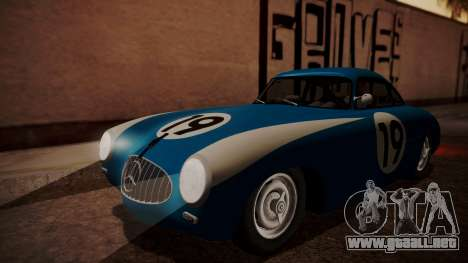 Mercedes-Benz 300 SL (W194) de 1952, la FIV АПП para vista inferior GTA San Andreas