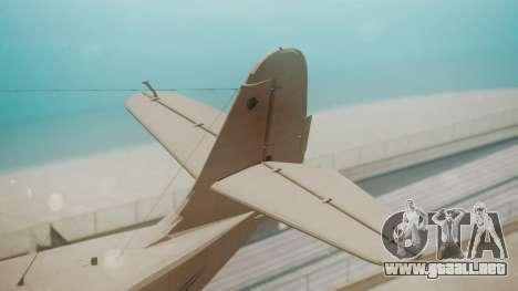 Grumman G-21 Goose WhiteBlueLines para GTA San Andreas vista posterior izquierda