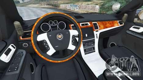 GTA 5 Cadillac Escalade ESV 2012 Police vista lateral trasera derecha