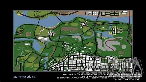 HD Radar Map para GTA San Andreas quinta pantalla