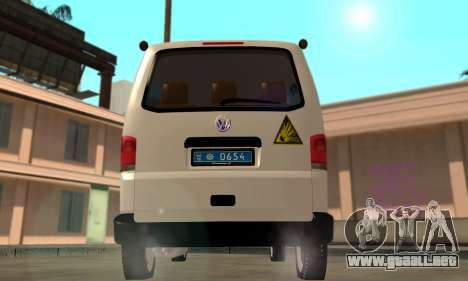 Volkswagen Transporter Buscaminas Ucrania para la visión correcta GTA San Andreas