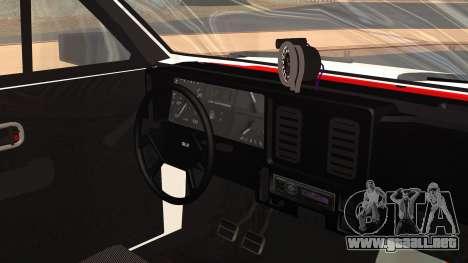 Chevrolet Chevette SLE 88 para la visión correcta GTA San Andreas