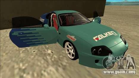 Toyota Supra Falken Drift para vista inferior GTA San Andreas