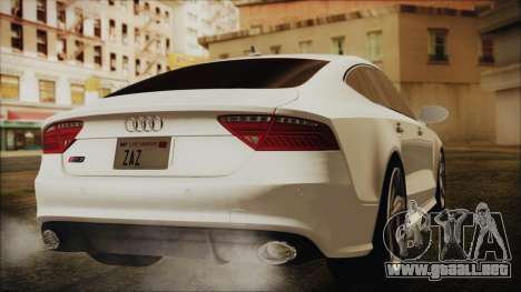 Audi RS7 Sportback 2015 para GTA San Andreas left