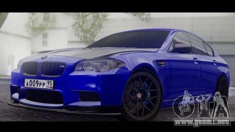 BMW M5 F10 Top Service MSK para GTA San Andreas left