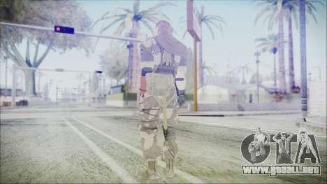 MGSV Phantom Pain Snake Scarf Splitter para GTA San Andreas tercera pantalla