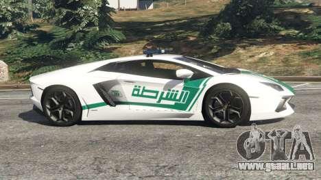 Lamborghini Aventador LP700-4 Dubai Police v5.5 para GTA 5