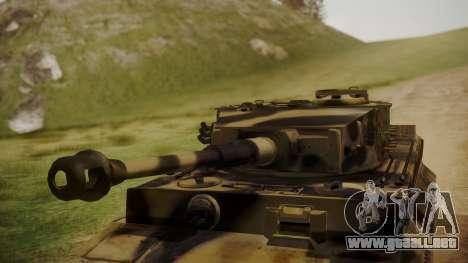 Panzerkampfwagen VI Tiger Ausf. H1 No Interior para la visión correcta GTA San Andreas