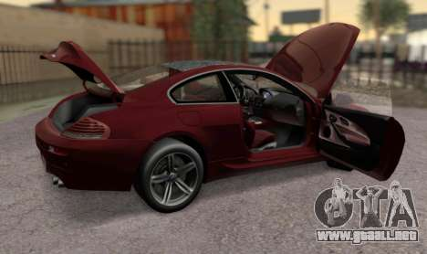BMW M6 E63 para la visión correcta GTA San Andreas