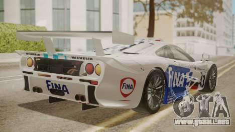 McLaren F1 GTR 1998 Team BMW para GTA San Andreas left
