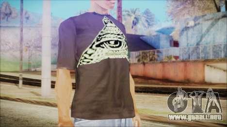 Illuminati T-Shirt para GTA San Andreas tercera pantalla