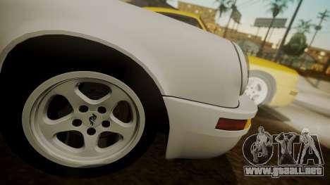 RUF CTR Yellowbird (911) 1987 HQLM para GTA San Andreas vista posterior izquierda