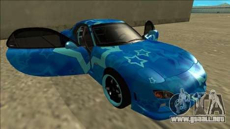 Mazda RX-7 Drift Blue Star para vista inferior GTA San Andreas
