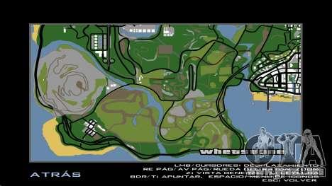 HD Radar Map para GTA San Andreas sucesivamente de pantalla