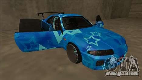Nissan Skyline R33 Drift Blue Star para el motor de GTA San Andreas