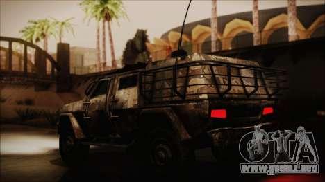 Joint Light Tactical Vehicle para GTA San Andreas vista posterior izquierda