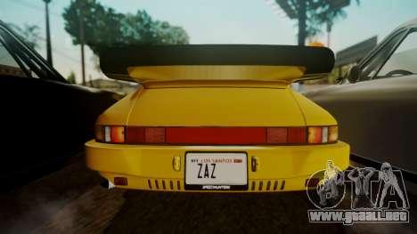 RUF CTR Yellowbird (911) 1987 HQLM para GTA San Andreas vista hacia atrás