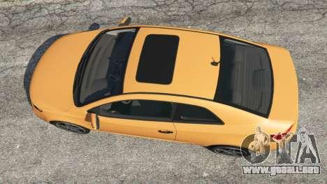 GTA 5 Kia Forte Koup SX [Beta] vista trasera