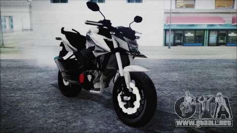 Honda CB150R White para la visión correcta GTA San Andreas