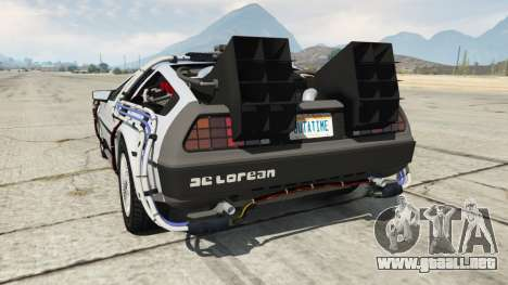 GTA 5 DeLorean DMC-12 Back To The Future vista lateral izquierda trasera