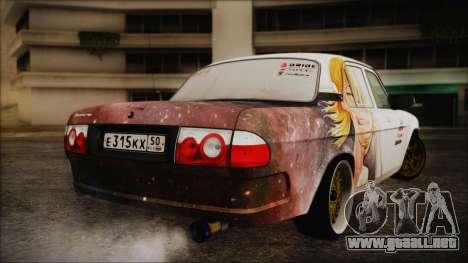 ГАЗ 31105 Deriva (Eterna Edición de Verano) para GTA San Andreas vista posterior izquierda