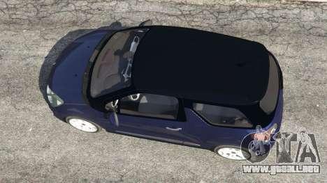 GTA 5 Citroen DS3 2011 vista trasera