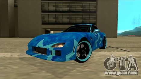 Mazda RX-7 Drift Blue Star para GTA San Andreas vista posterior izquierda